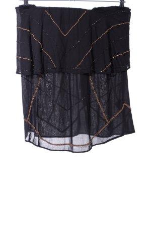 NÜ Denmark Jupe portefeuille noir style extravagant