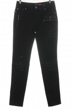 nü Stretch Jeans schwarz Used-Optik