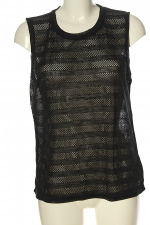 NÜMPF Crochet Shirt black casual look