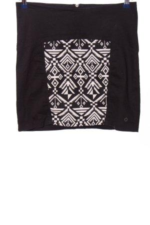 NÜMPF Minirock schwarz-weiß grafisches Muster Casual-Look