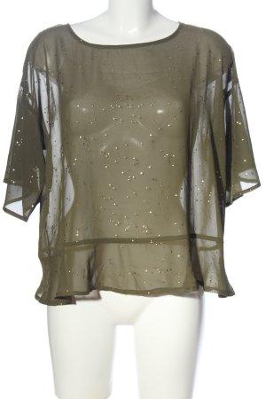 NÜMPF Transparenz-Bluse khaki Elegant