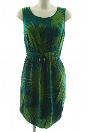 Nümph A-Linien Kleid grün Blumenmuster Casual-Look