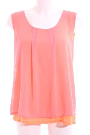 Nümph ärmellose Bluse pink-hellorange Casual-Look