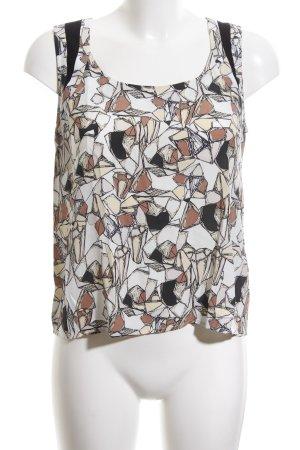 Nümph ärmellose Bluse abstraktes Muster Casual-Look
