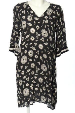 Nümph Blusenkleid schwarz-weiß Allover-Druck Casual-Look