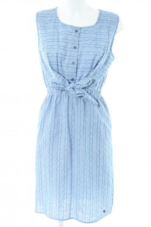 Nümph Blusenkleid blau Allover-Druck Casual-Look