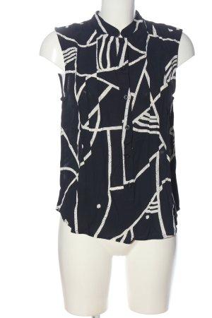 Nümph Blusentop schwarz-weiß grafisches Muster Casual-Look