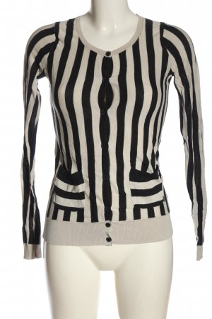 Nümph Cardigan light grey-natural white striped pattern casual look