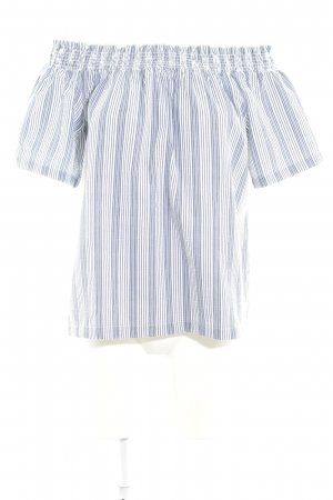 Nümph Carmen-Bluse weiß-dunkelblau Streifenmuster Casual-Look