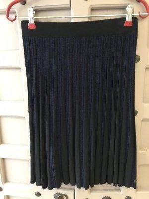 Nümph Spódnica z dzianiny czarny-niebieski