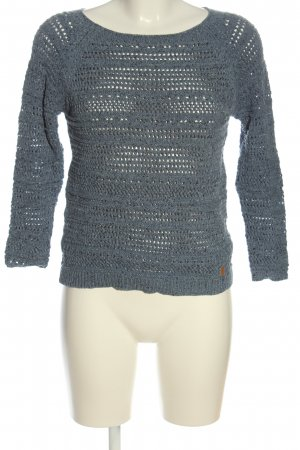 Nümph Crochet Sweater blue cable stitch casual look