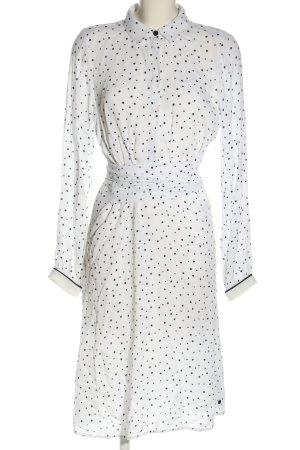 Nümph Shirtwaist dress white-black allover print casual look