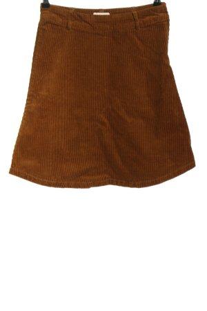 Nümph Jupe taille haute brun motif rayé style décontracté