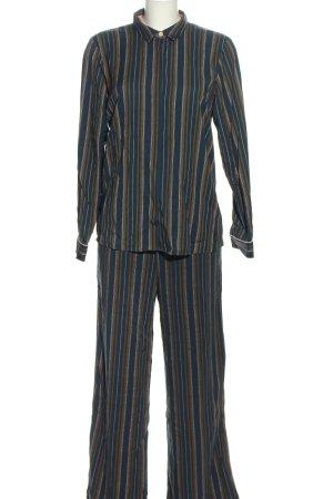 Nümph Tailleur-pantalon bleu-brun imprimé allover style classique