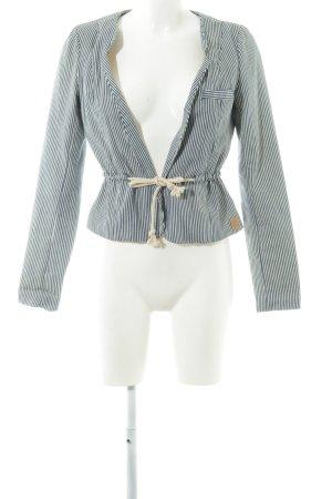 Nümph Jersey blazer blauw-wit gestreept patroon casual uitstraling