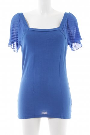 Nümph Kurzarm-Bluse blau Casual-Look