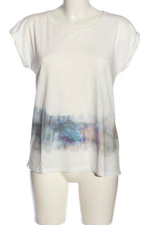 Nümph Kurzarm-Bluse abstraktes Muster Casual-Look