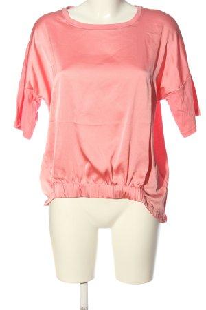 Nümph Kurzarm-Bluse pink Casual-Look