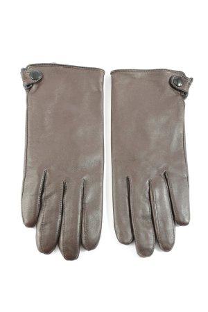Nümph Leren handschoenen bruin casual uitstraling