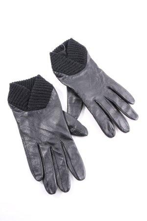 Nümph Lederhandschuhe schwarz Casual-Look
