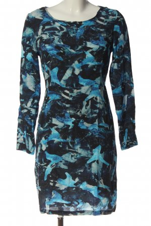 Nümph Stretch Dress blue-turquoise abstract pattern casual look