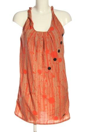 Nümph Mini vestido naranja claro-nude look casual