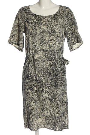 Nümph Minikleid wollweiß-schwarz abstraktes Muster Casual-Look