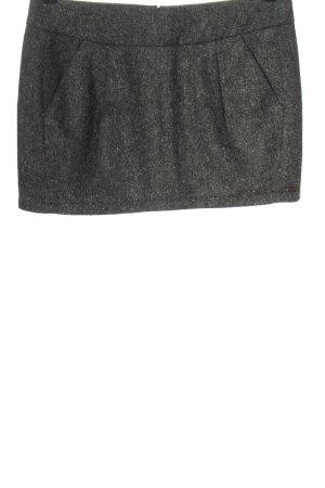 Nümph Mini-jupe gris clair Motif de tissage style décontracté