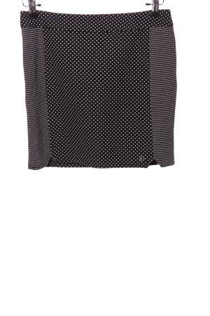 Nümph Minirock schwarz-weiß Punktemuster Elegant