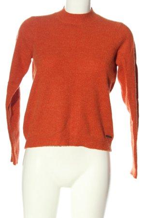 Nümph Maglione dolcevita arancione chiaro puntinato stile casual