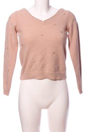 Nümph Rundhalspullover pink Punktemuster Casual-Look