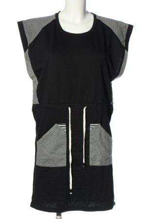 Nümph Abito jersey nero-grigio chiaro puntinato stile casual