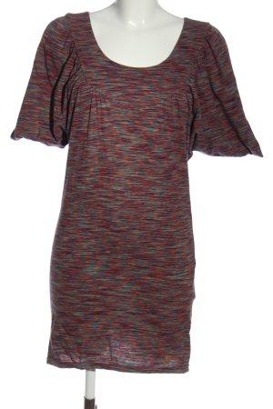 Nümph Robe t-shirt rouge-turquoise moucheté style décontracté