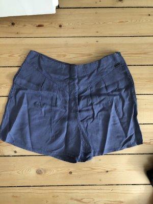 Nümph Pantaloncino a vita alta blu fiordaliso