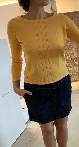 Nümph Pull tricoté orange doré