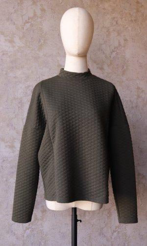 Nümph Oversized Sweater dark green-black polyester
