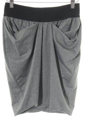 Nümph Stretchrock grau-schwarz meliert Casual-Look