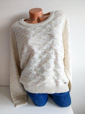 Nümph Maglione lavorato a maglia crema