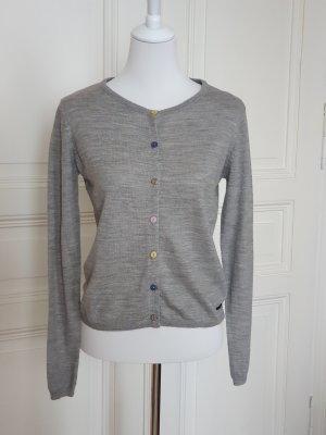 Nümph Veste en tricot gris clair