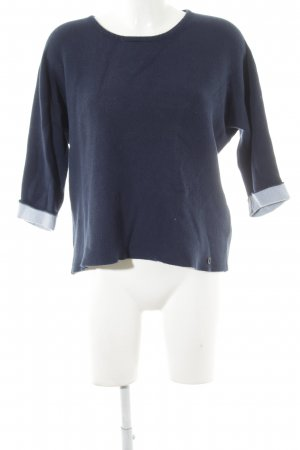 Nümph Strickpullover blau Casual-Look