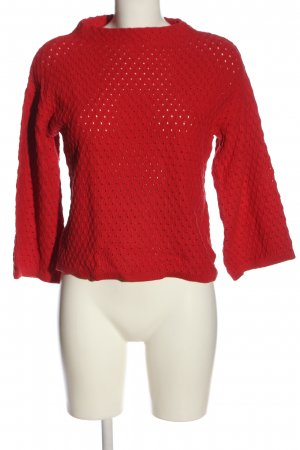 Nümph Strickpullover rot Casual-Look