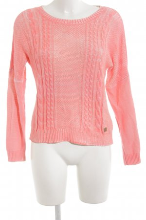 Nümph Strickpullover lachs Zopfmuster Casual-Look