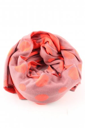Nümph Strickschal rot-pink Punktemuster Casual-Look