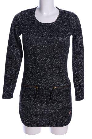 Nümph Sweatkleid schwarz-weiß Allover-Druck Casual-Look