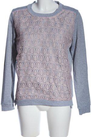 Nümph Sweatshirt bleu-rose moucheté style décontracté