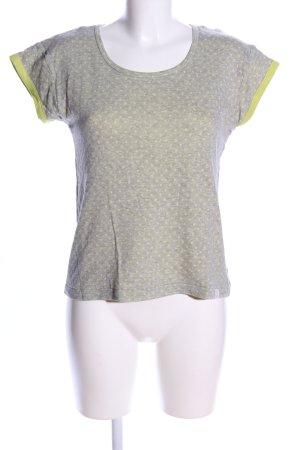 Nümph T-Shirt hellgrau-grün Allover-Druck Casual-Look
