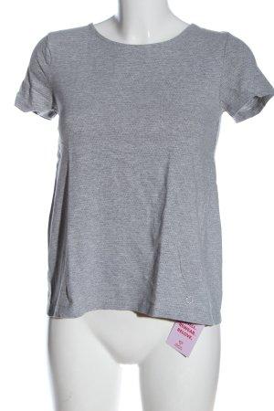 Nümph T-shirt gris clair-noir moucheté style décontracté
