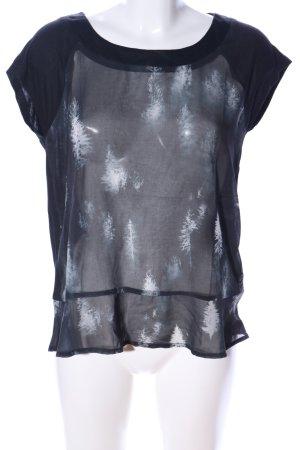 Nümph T-Shirt schwarz abstraktes Muster Casual-Look