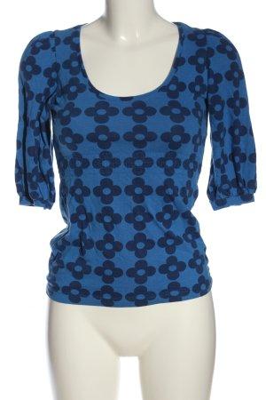 Nümph T-Shirt blau Allover-Druck Casual-Look