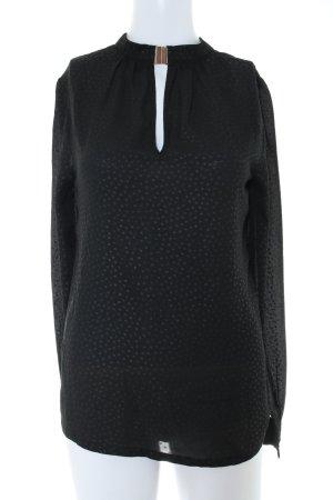 Nümph Transparenz-Bluse schwarz Punktemuster Casual-Look